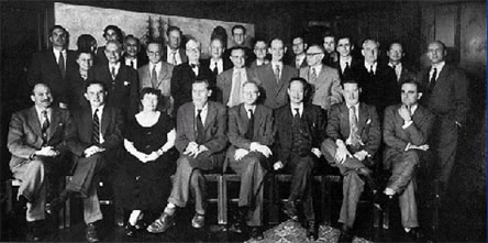 Attendees at the 10th Macy Conference 1953